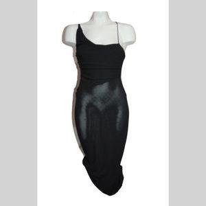 DIANE VON FURSTENBERG DVF Black Knit Dress Sz 4